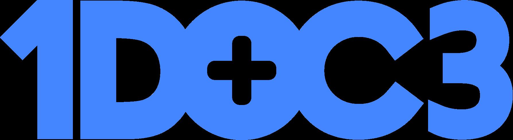 Logo 1doc3 azul